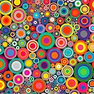 Psychedelic Circles Digital Art by David Alexander Elder