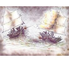 Naval Battle Photographic Print