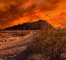 Fiery Terlingua Sunset by Dean Fikar