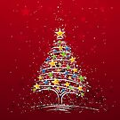Christmas Tree Digital Art by David Alexander Elder