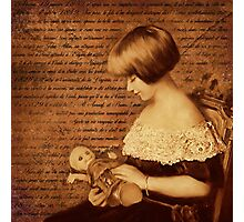 Girl with Doll Photographic Print
