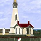 Yaquina Head Lighthouse on Oregon Pacific Coast by AVNorskog