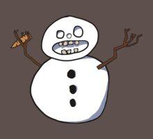 Beware the CRAZY SNOWMAN One Piece - Short Sleeve