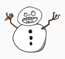 Beware the CRAZY SNOWMAN Kids Tee