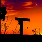 Sunset at a Terlingua Ranch by Dean Fikar