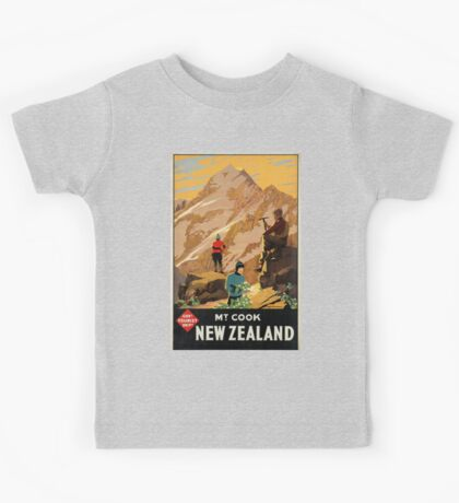 Vintage poster - New Zealand Kids Tee
