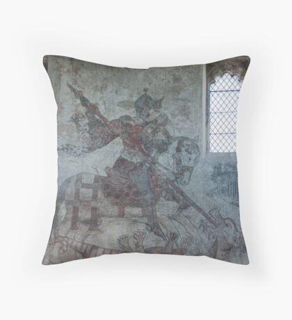 Pickering church, Yorkshire,UK ( Wall painting 1) Throw Pillow