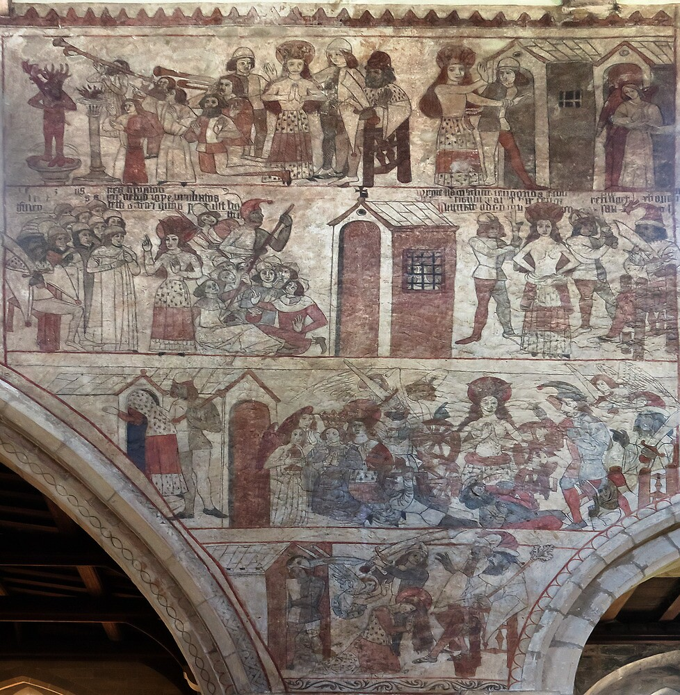 Pickering church, Yorkshire,UK ( Wall painting 3) by jasminewang