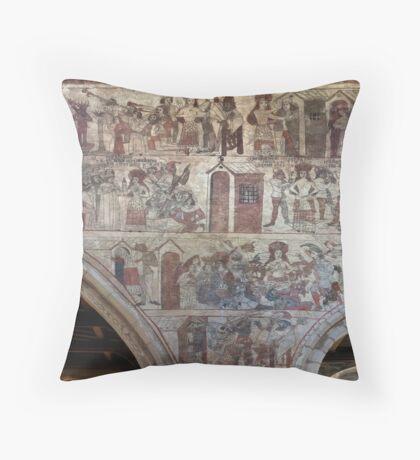 Pickering church, Yorkshire,UK ( Wall painting 3) Throw Pillow