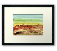 Desert Landscape of Natural Wonders Framed Print
