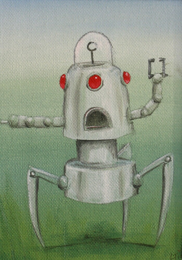 Retro Robot #5 by Lee Twigger