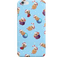 Christmas Tiny Little Baby Sloths iPhone Case/Skin