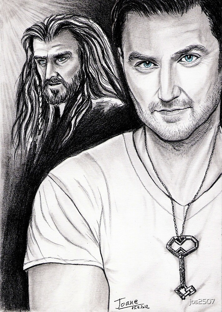 Richard Armitage staring as Thorin Oakenshield by jos2507