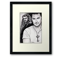Richard Armitage staring as Thorin Oakenshield Framed Print