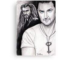 Richard Armitage staring as Thorin Oakenshield Canvas Print
