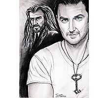 Richard Armitage staring as Thorin Oakenshield Photographic Print