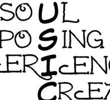 Music - Typographical Design Sticker