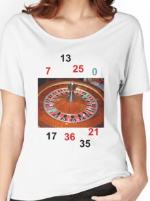 Roulette casino wheel chips and numbers Women's Relaxed Fit T-Shirt