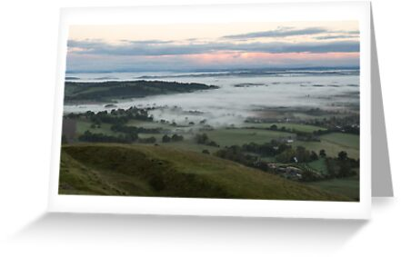 Mist encroaches Herefordshire by Cliff Williams