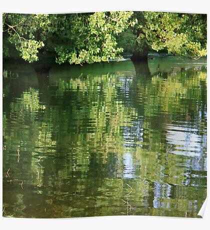 Rutland Water Reflection Poster
