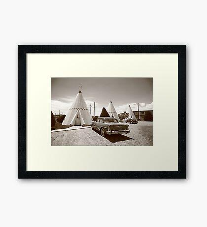 Route 66 Wigwam Motel Framed Print
