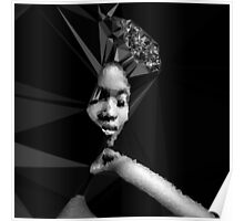Nubian Woman - Black and White Poster
