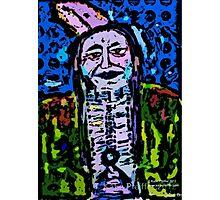 Pop Art Native American Indian  Portrait Photographic Print