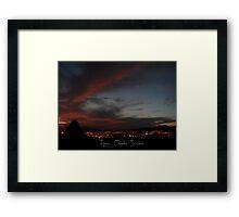 ©HCS Night Red Cloud I Framed Print
