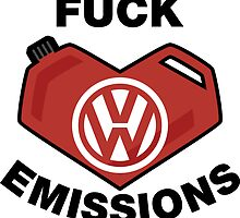 Fuck Emissions, Funny VW Sticker and T-shirts by lolotees