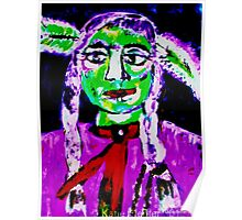 Pop Art Native American Indian  Portrait #2 Poster