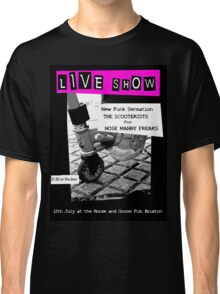 Retro Scooterist Punk Poster Classic T-Shirt