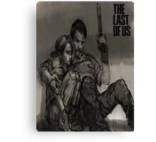 The Last of us Joel and Ellie Surviving Canvas Print