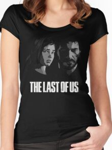 Joel and Ellie the last of us Women's Fitted Scoop T-Shirt