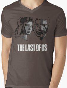 Joel and Ellie the last of us Mens V-Neck T-Shirt