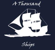 A Thousand Ships T-Shirt In White Kids Tee