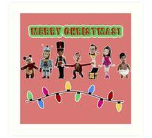 Stop Motion Christmas - Style F Art Print