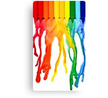 crayon melt Canvas Print