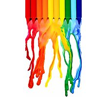 crayon melt Photographic Print