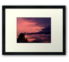 ©HCS Purple Cloud Pink Sky I Framed Print