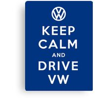 Keep Calm and Drive VW (Version 02) Canvas Print