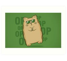Gangnam Kitty Art Print