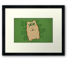 Gangnam Kitty Framed Print