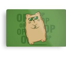 Gangnam Kitty Metal Print