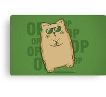 Gangnam Kitty Canvas Print