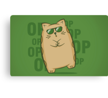 Gangnam Kitty Canvas Print