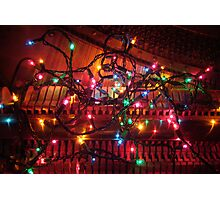 Christmas Piano Photographic Print