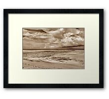 Storm coming from the East at Yamacraw Beach in Nassau, The Bahamas Framed Print