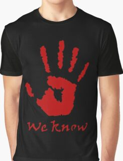 We Know Letter (Red) - The Dark Brotherhood Graphic T-Shirt
