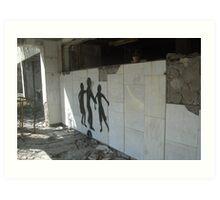 Graffiti, Chernobyl exclusion zone Art Print