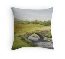 Bridge in Donegal Throw Pillow
